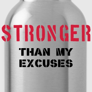 Stronger Than My Excuses Camisetas - Cantimplora