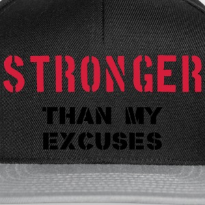 Stronger Than My Excuses T-Shirts - Snapback Cap