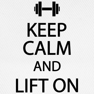 Keep calm and lift on T-Shirts - Baseballkappe