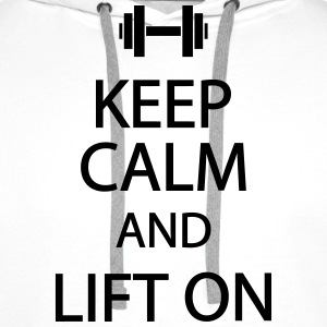Keep calm and lift on T-shirts - Premiumluvtröja herr