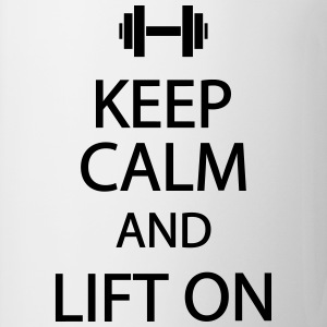 Keep calm and lift on T-shirts - Kop/krus