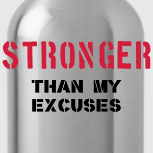Stronger Than My Excuses Tops - Water Bottle