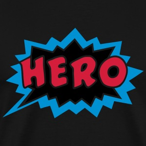 Comic, Hero, Sprechblase, Superhero, Cartoon, Fun  - Männer Premium T-Shirt
