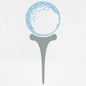 golf ball on tee (2c) T-Shirts - Baseballkappe