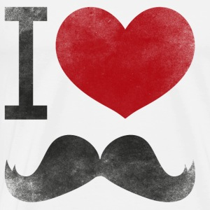 I_love_moustaches+MOUSTACHE+TRIANGLE+HIPSTER+SWAG Tops - Männer Premium T-Shirt