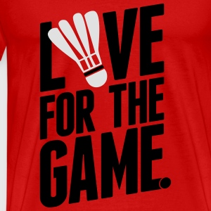 badminton - love for the game Tops - Mannen Premium T-shirt