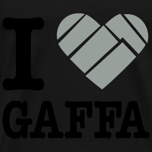 I love Gaffa tape Tops - Men's Premium T-Shirt
