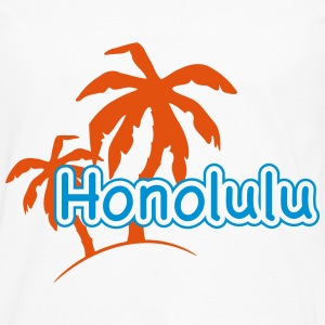Honolulu Hawaii semester palm beach 1c Toppar - Långärmad premium-T-shirt herr
