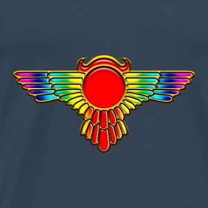 Winged Globe, symbol of the perfected soul Topper - Premium T-skjorte for menn