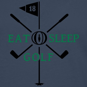 Eat Sleep Golf (2c) Tops - Männer Premium Langarmshirt