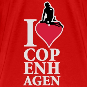 I_Love_Copenhagen_3ca15_on-red Tops - Men's Premium T-Shirt
