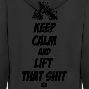 Keep Calm and Lift that Shit T-Shirts - Men's Premium Hooded Jacket