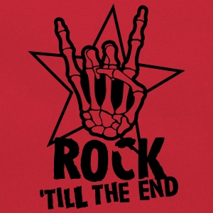 rock 'till the end star T-shirts - Retro-tas