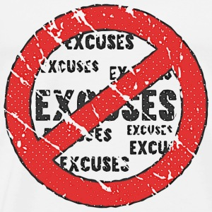 No More Excuses | Vintage Look T-shirts - Premium-T-shirt herr