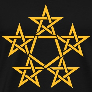 Pentagram, 5 Stars, Pentagon, Golden Ratio Topper - Premium T-skjorte for menn