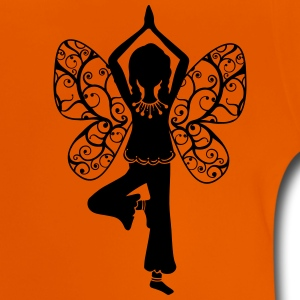 Yoga girl, butterfly wings, fairy, asana, teacher T-shirts - Baby-T-shirt