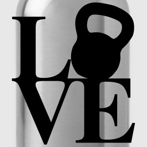 Kettlebell Love Art T-Shirts - Water Bottle