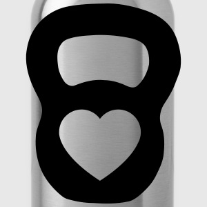 Kettlebell Heart T-Shirts - Water Bottle