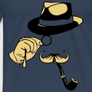smiley chapeau monocle moustache pipe 1 Débardeurs - T-shirt Premium Homme
