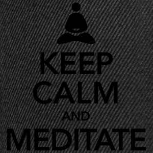 Keep Calm And Meditate Débardeurs - Casquette snapback