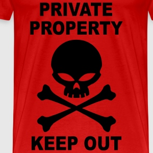 private property keep out Débardeurs - T-shirt Premium Homme