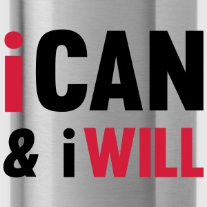 I Can And I Will Toppe - Drikkeflaske