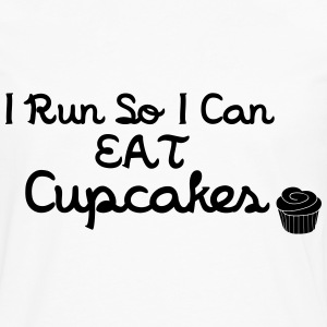 I Run So I Can Eat Cupcakes Tops - Mannen Premium shirt met lange mouwen