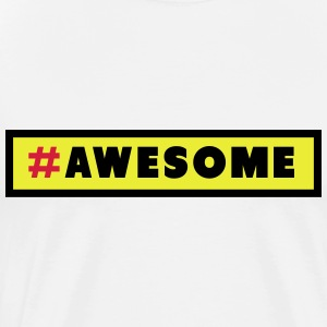 Awesome Hashtag Topper - Premium T-skjorte for menn