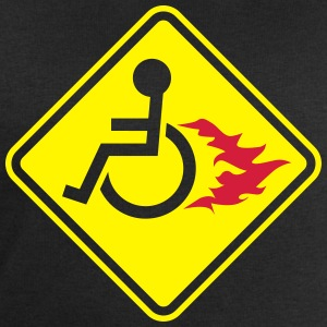 Wheelchair on Fire T-Shirts - Men's Sweatshirt by Stanley & Stella