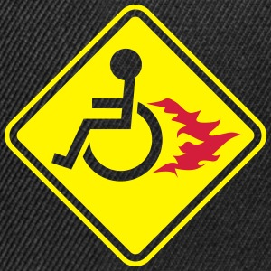 Wheelchair on Fire T-Shirts - Snapback Cap