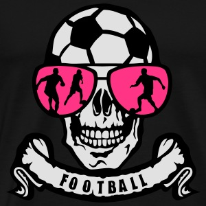 foot tete mort skull lunette banderole Tee shirts - T-shirt Premium Homme