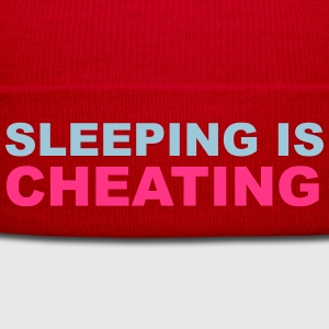 Sleeping Is Cheating Tops - Winter Hat
