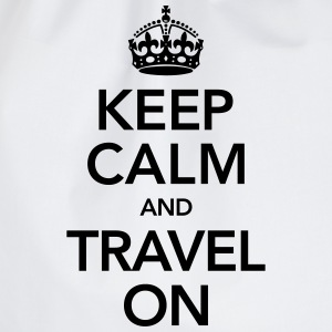 Keep Calm And Travel On T-Shirts - Drawstring Bag