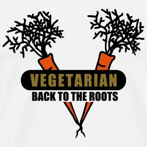 Vegetarian - back to the roots (3c) Tops - Männer Premium T-Shirt