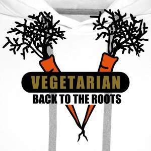 Vegetarian - back to the roots (3c) T-Shirts - Men's Premium Hoodie