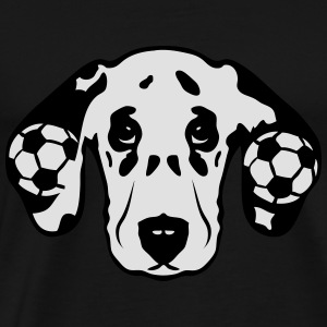 foot dalmatien chien football soccer dog Tee shirts - T-shirt Premium Homme