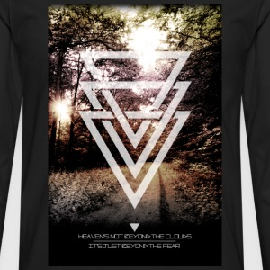 mystic forest triangles T-Shirts - Men's Premium Longsleeve Shirt