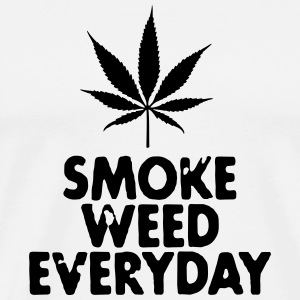 smoke weed everyday leaf T-skjorter - Premium T-skjorte for menn