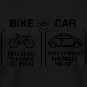 Bike VS Car T-Shirts - Men's Premium T-Shirt