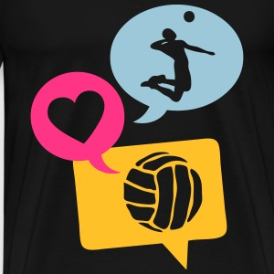 volleyball bulle love bubble 1 Débardeurs - T-shirt Premium Homme