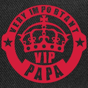 very important papa vip couronne logo 4 Tee shirts - Casquette snapback