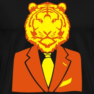 tigre costume cravate business tiger Tee shirts - T-shirt Premium Homme