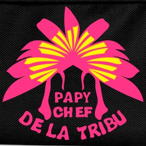 papy chef tribu coiffe indienne Tee shirts - Sac à dos Enfant