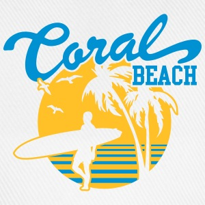 Coral Beach Surfers Heaven Tops - Baseball Cap