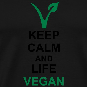 Keep calm vegan Tops - Männer Premium T-Shirt