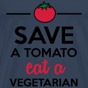 Tomato & Vegetable - Save a Tomato eat a Vegetaria Tops - Men's Premium T-Shirt