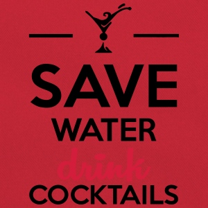 Alcool amusement - Save Water drink Cocktails Tee shirts - Sac Retro