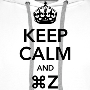 Keep Calm And Command Z T-shirts - Premiumluvtröja herr