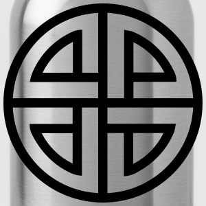 Celtic Shield Knot, Germanic, Protection, Amulet, T-Shirts - Water Bottle