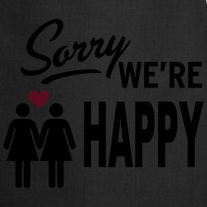 Sorry we are happy - girls Tops - Kochschürze